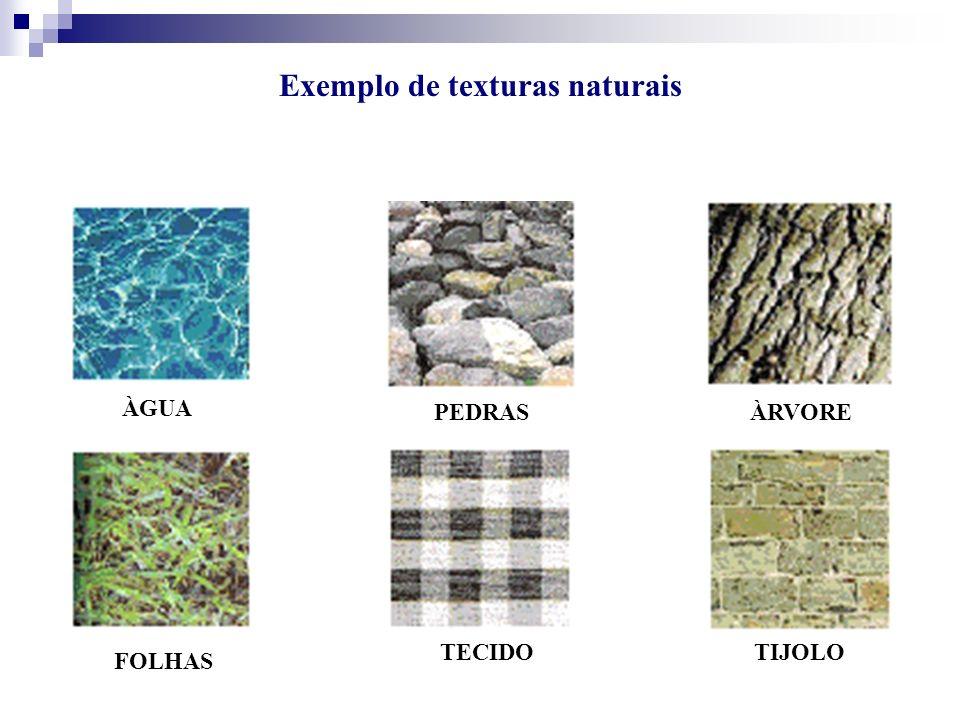 Exemplo de texturas naturais