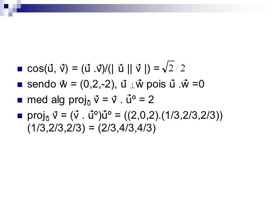 cos(u, v) = (u .v)/(| u || v |) =