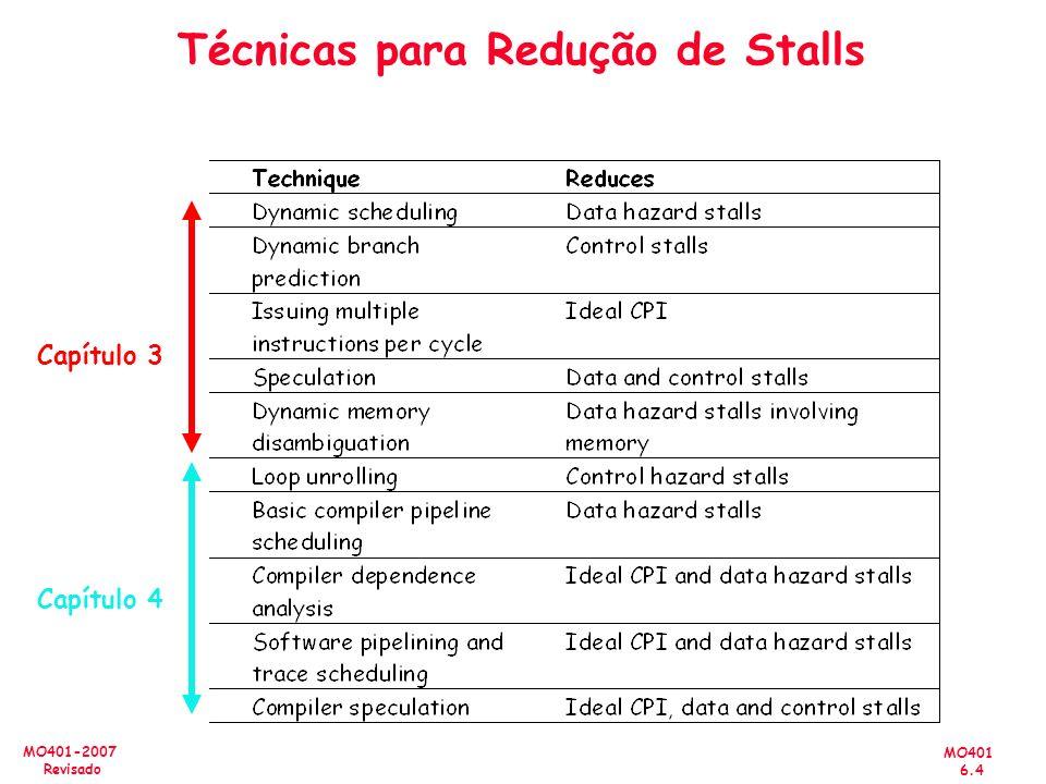Técnicas para Redução de Stalls