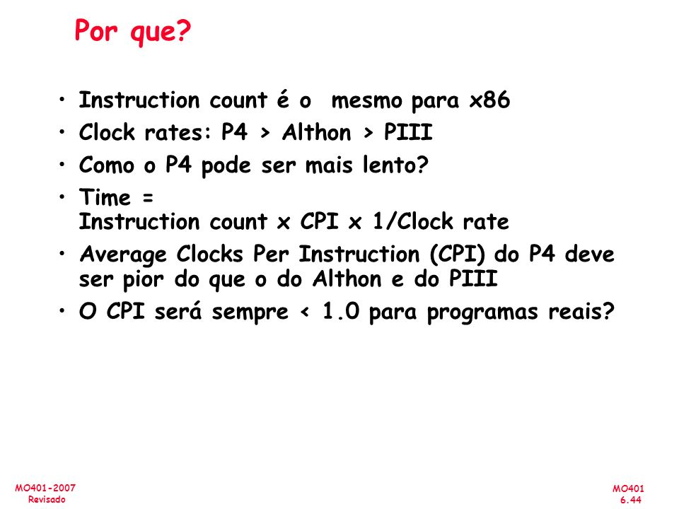 Por que Instruction count é o mesmo para x86