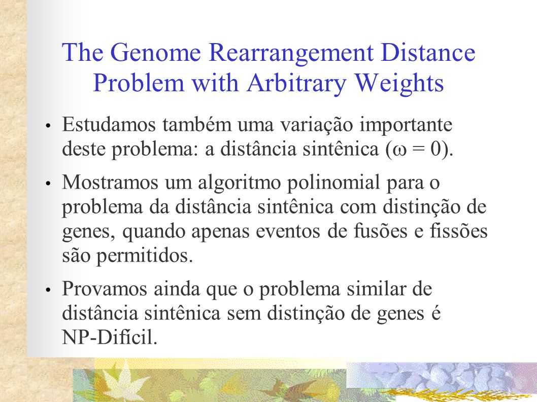 The Genome Rearrangement Distance Problem with Arbitrary Weights