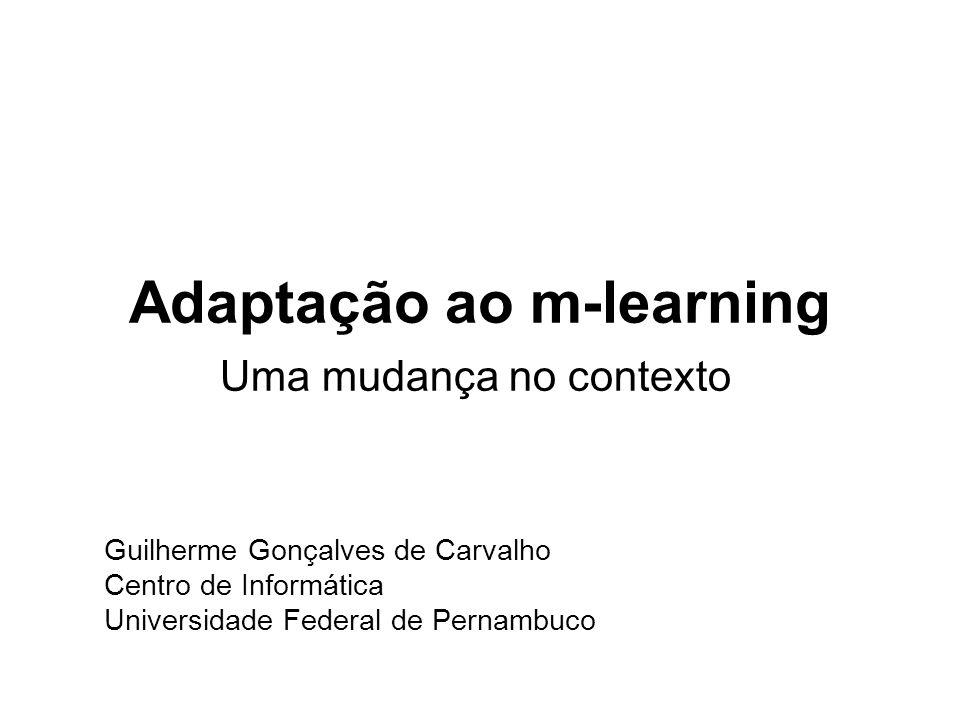 Adaptação ao m-learning