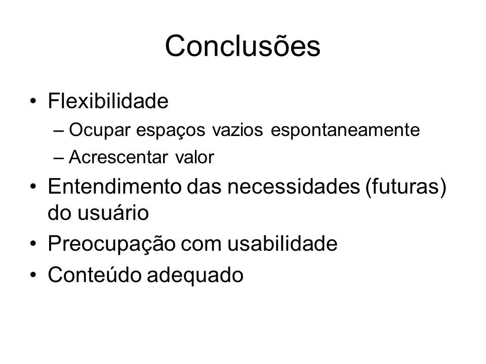 Conclusões Flexibilidade