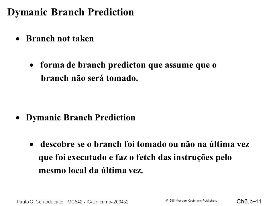 Dymanic Branch Prediction