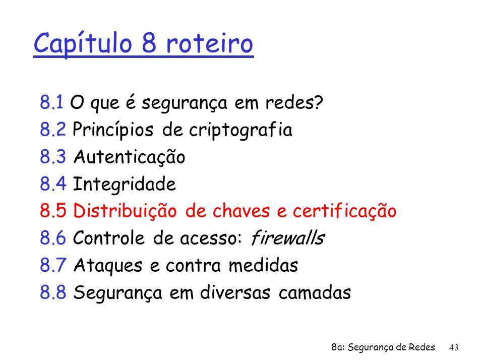 Capítulo 8 roteiro 8.1 O que é segurança em redes