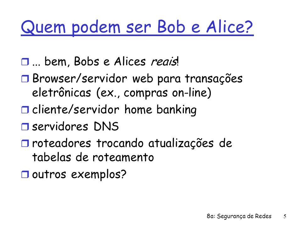 Quem podem ser Bob e Alice