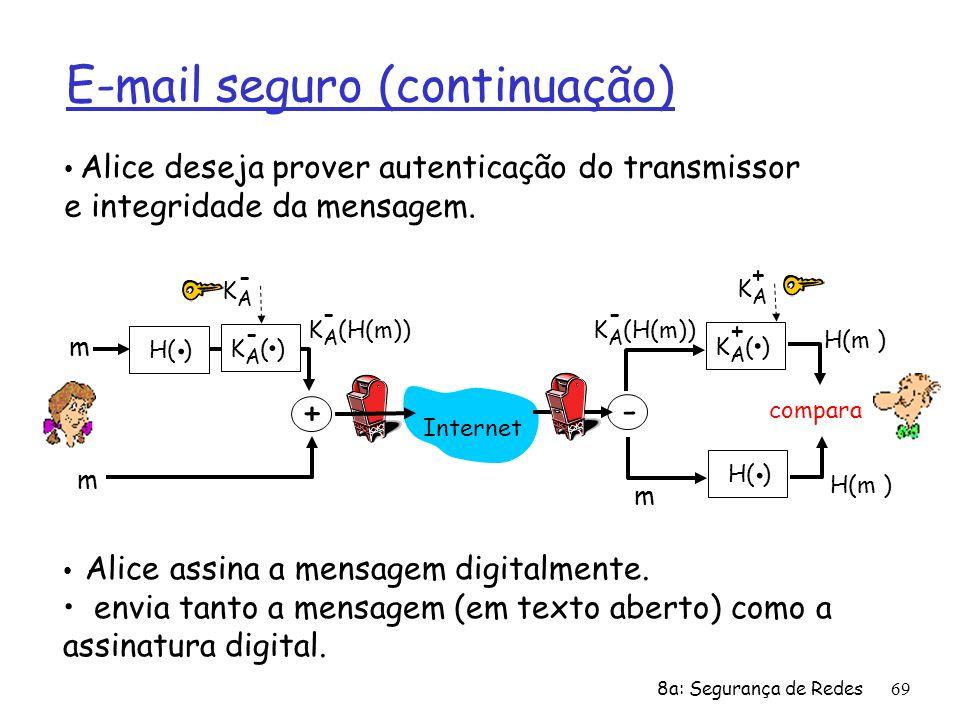 E-mail seguro (continuação)