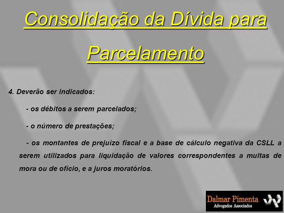 Consolidação da Dívida para Parcelamento