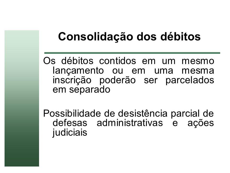 Consolidação dos débitos