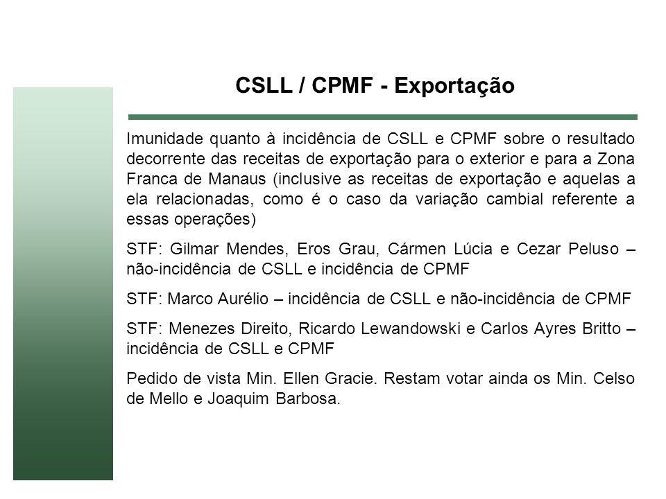 CSLL / CPMF - Exportação