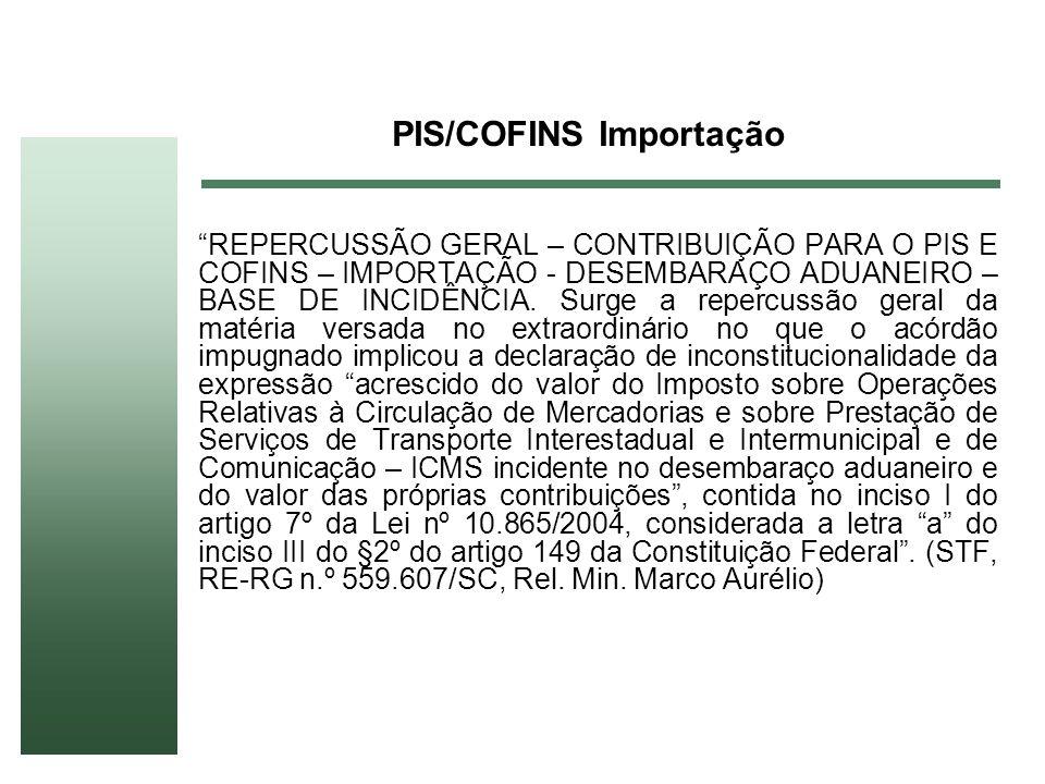 PIS/COFINS Importação
