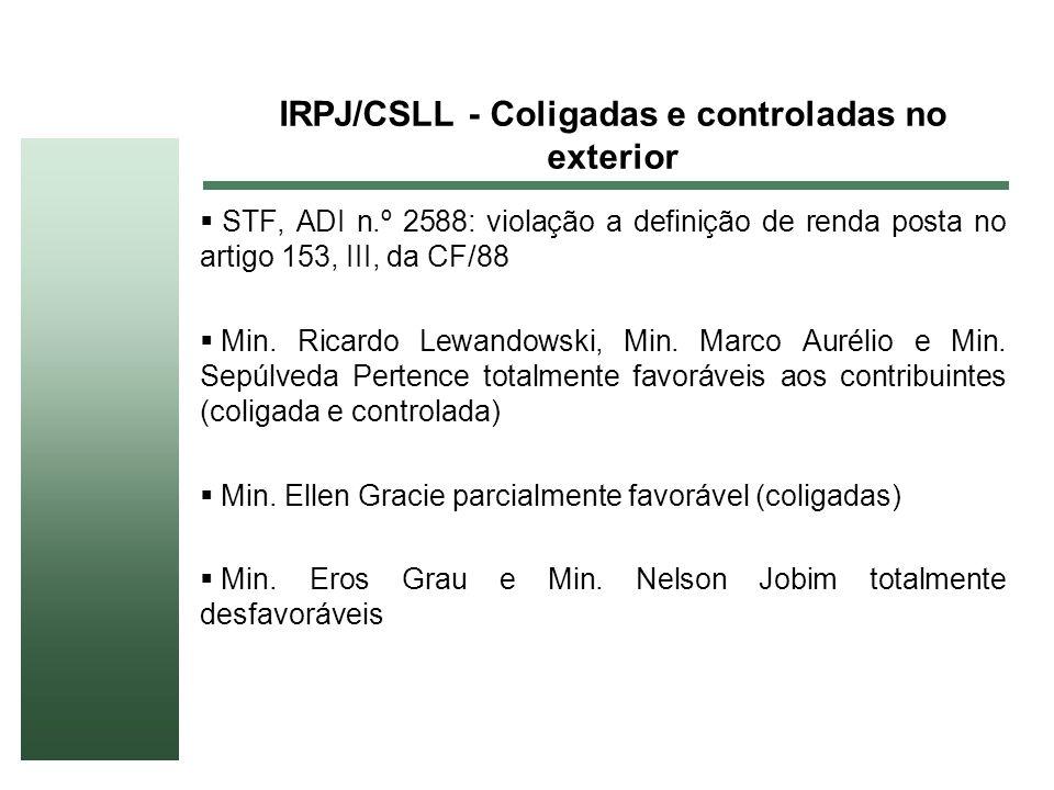 IRPJ/CSLL - Coligadas e controladas no exterior