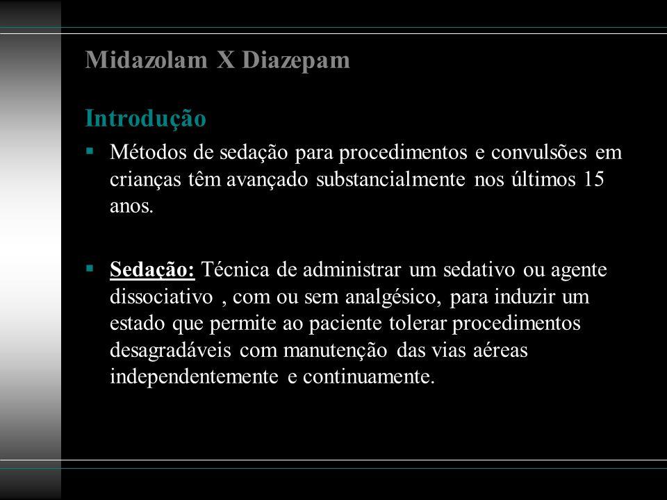 Midazolam X Diazepam Introdução