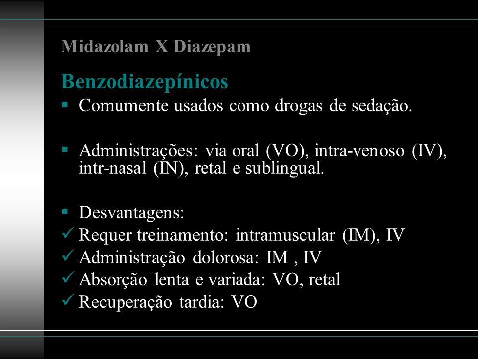 Benzodiazepínicos Midazolam X Diazepam