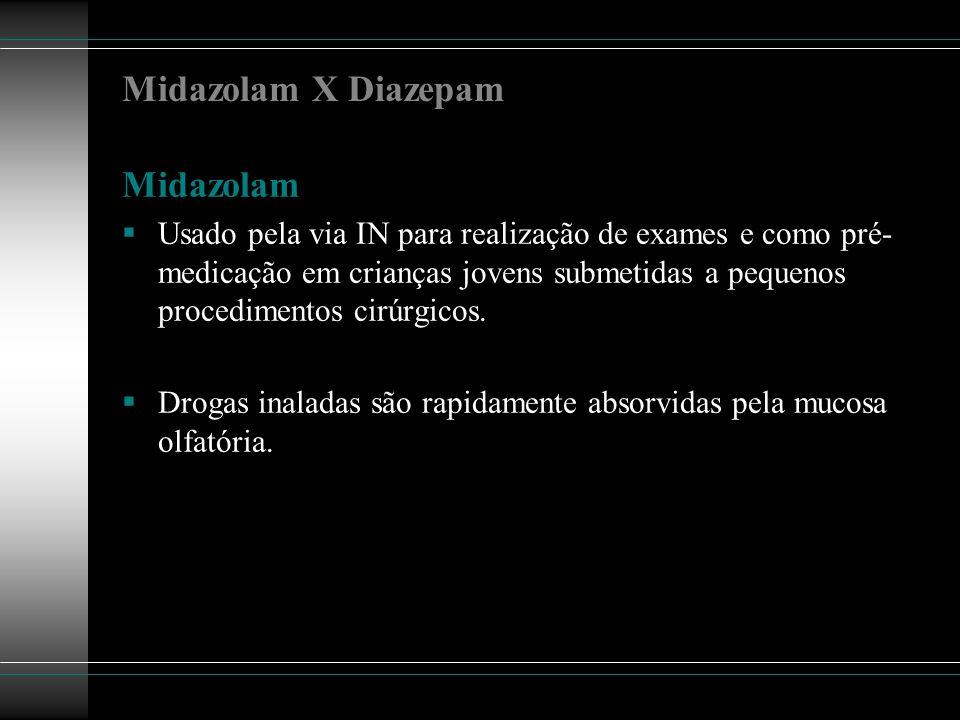 Midazolam X Diazepam Midazolam