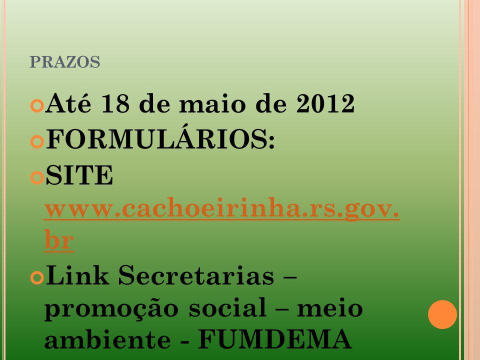 SITE www.cachoeirinha.rs.gov. br