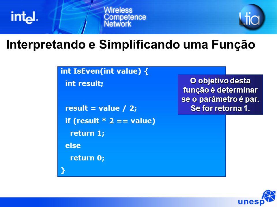 Interpretando e Simplificando uma Função