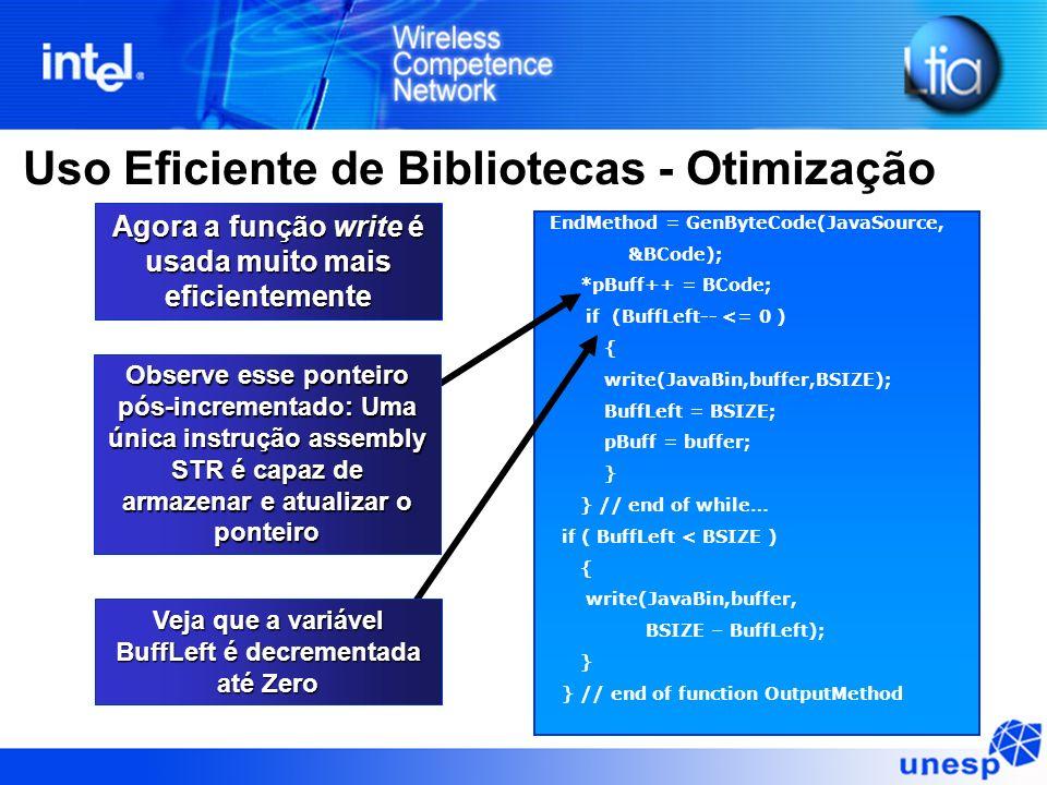 Uso Eficiente de Bibliotecas - Otimização