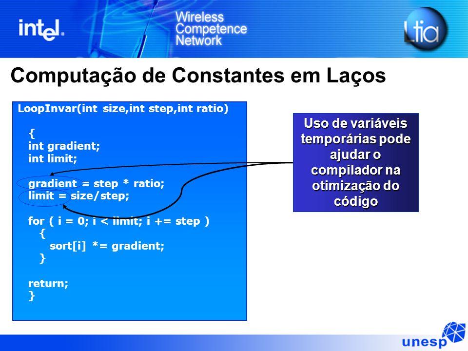 Computação de Constantes em Laços