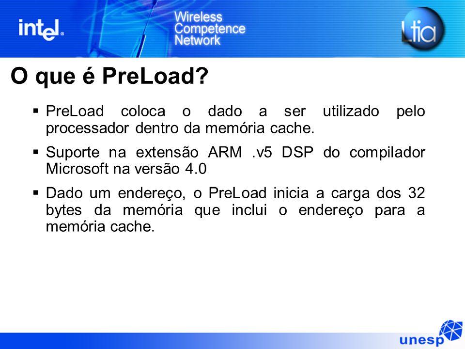 O que é PreLoad PreLoad coloca o dado a ser utilizado pelo processador dentro da memória cache.