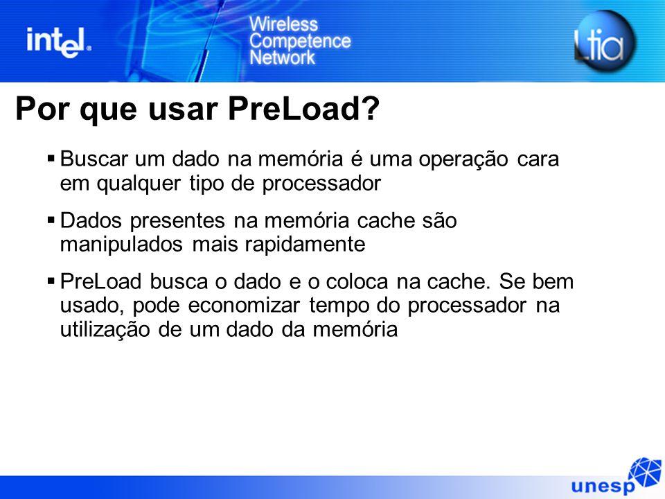 Por que usar PreLoad Buscar um dado na memória é uma operação cara em qualquer tipo de processador.