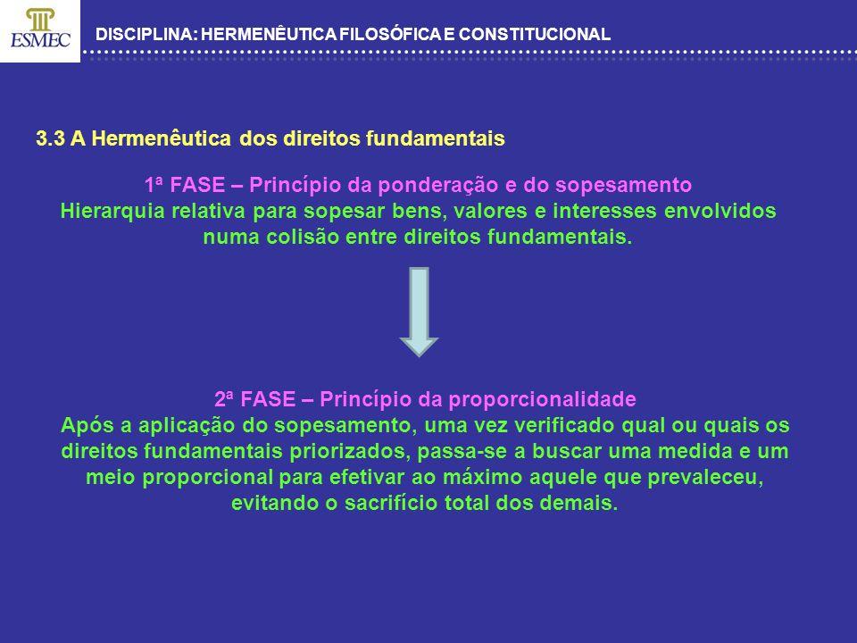 3.3 A Hermenêutica dos direitos fundamentais