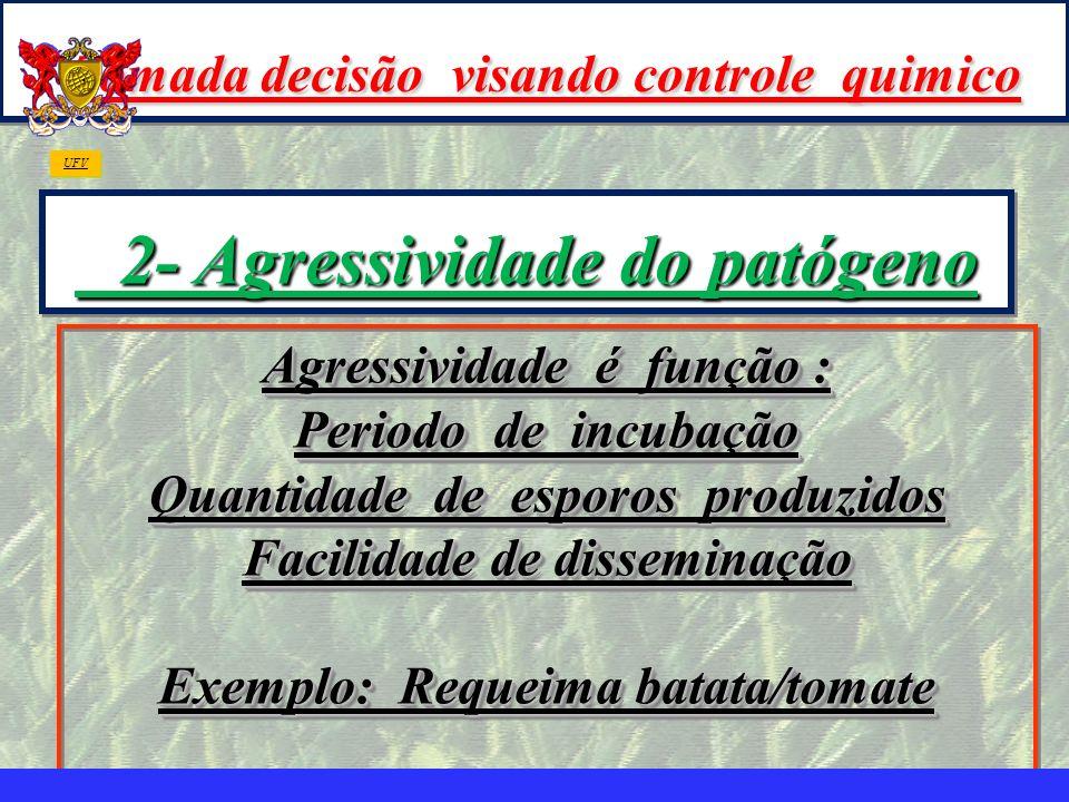Tomada decisão visando controle quimico 2- Agressividade do patógeno