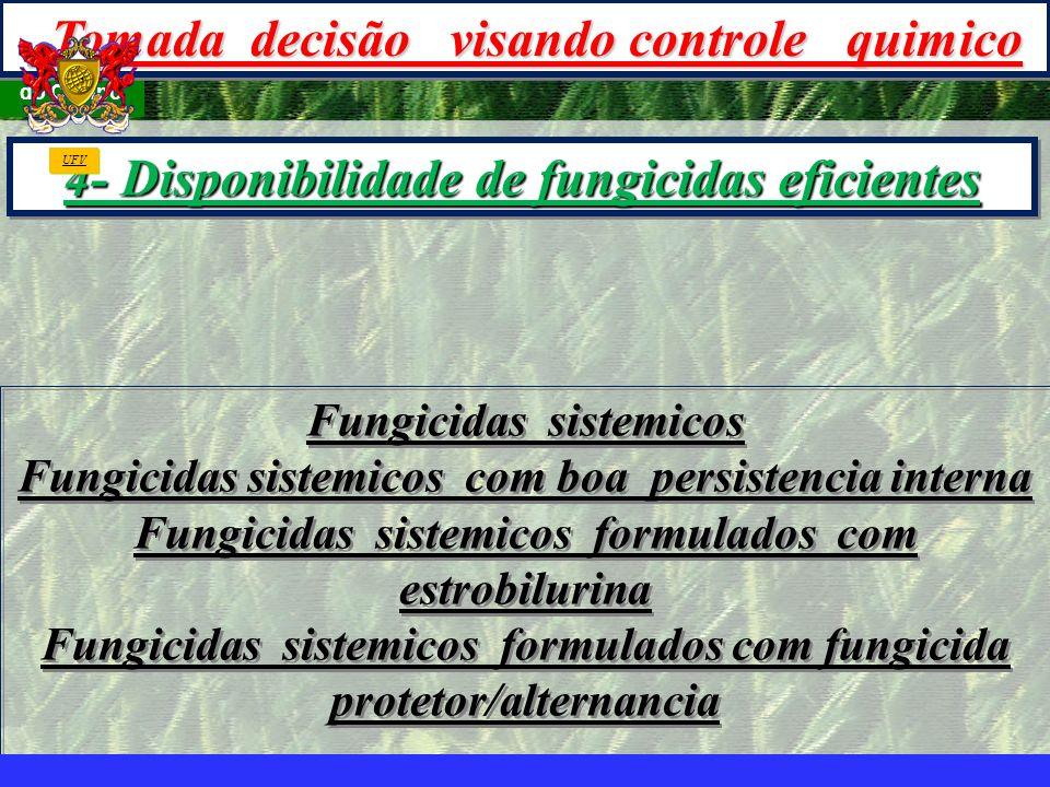 4- Disponibilidade de fungicidas eficientes