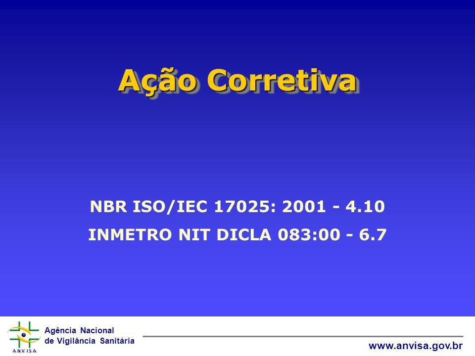Ação Corretiva NBR ISO/IEC 17025: 2001 - 4.10