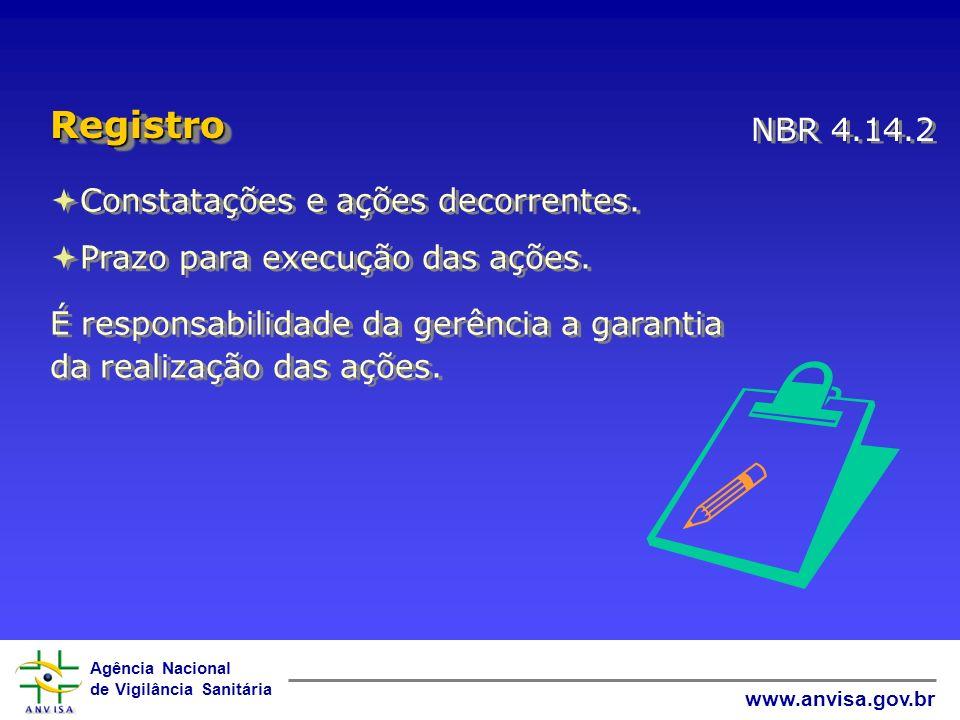   Registro NBR 4.14.2 Constatações e ações decorrentes.