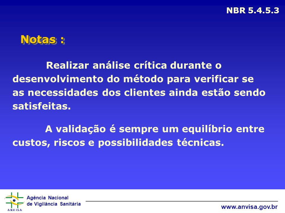 NBR 5.4.5.3 Notas :