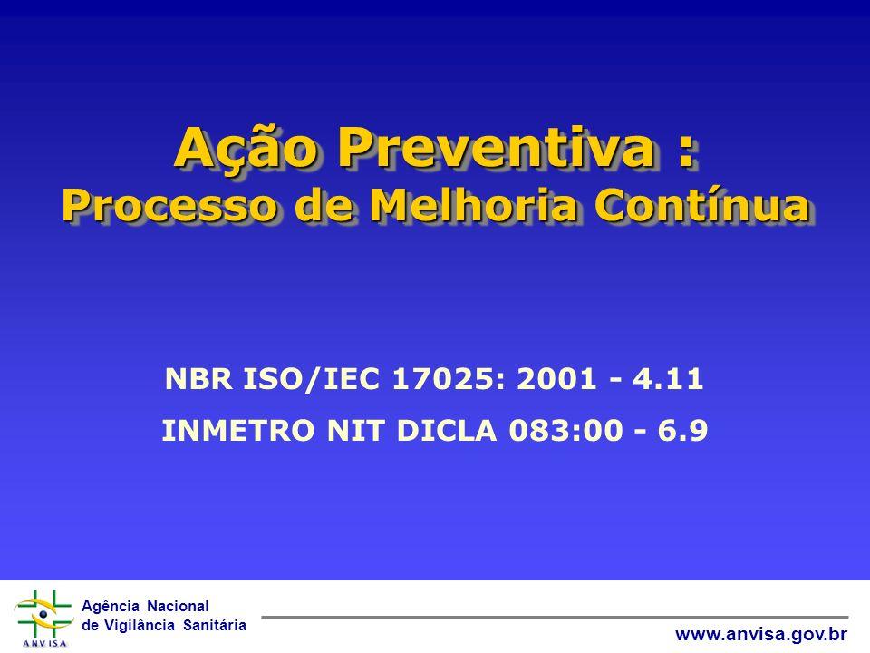 Ação Preventiva : Processo de Melhoria Contínua