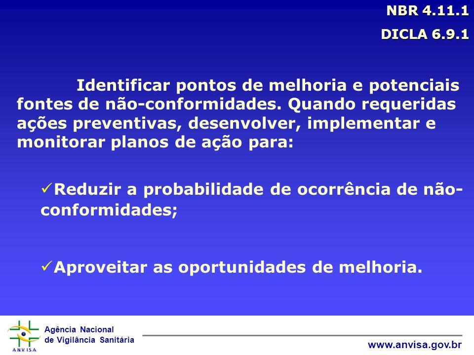 Reduzir a probabilidade de ocorrência de não-conformidades;