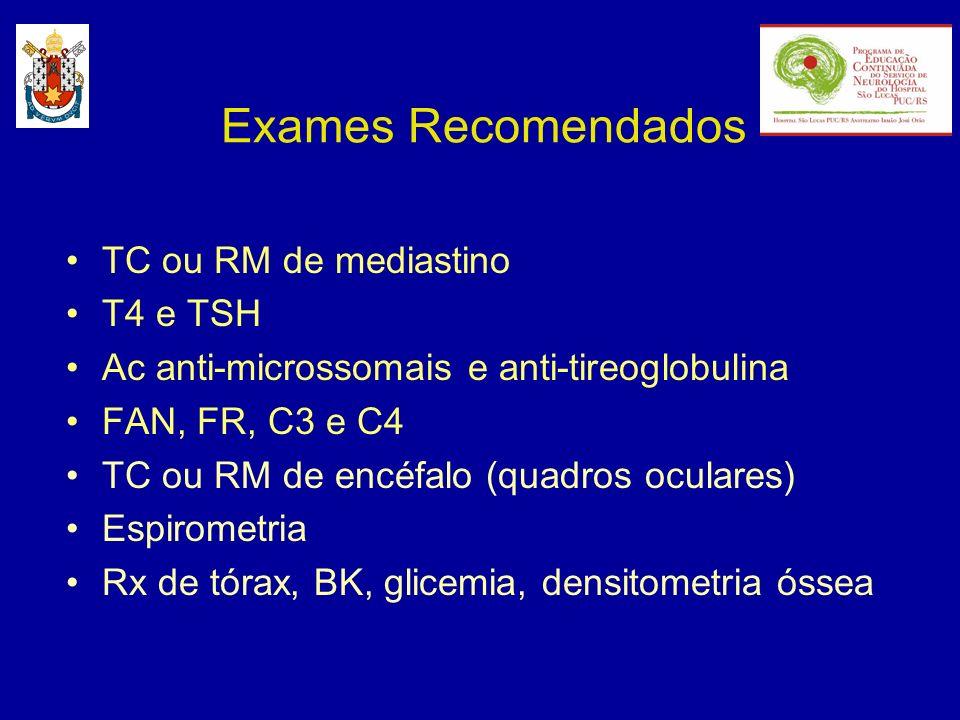 Exames Recomendados TC ou RM de mediastino T4 e TSH