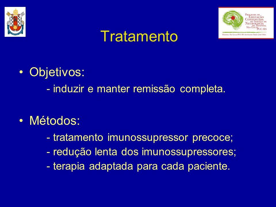 Tratamento Objetivos: - induzir e manter remissão completa. Métodos: