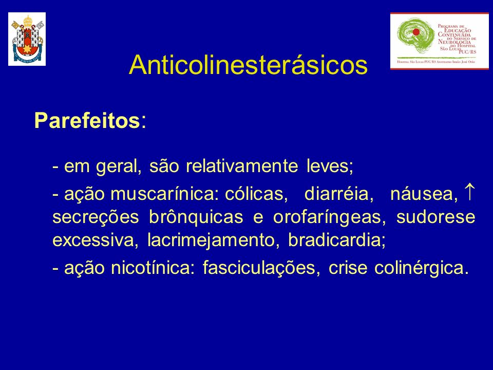 Anticolinesterásicos