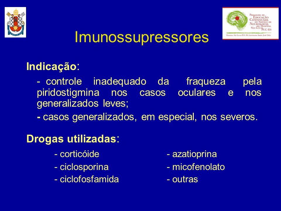 Imunossupressores Indicação:
