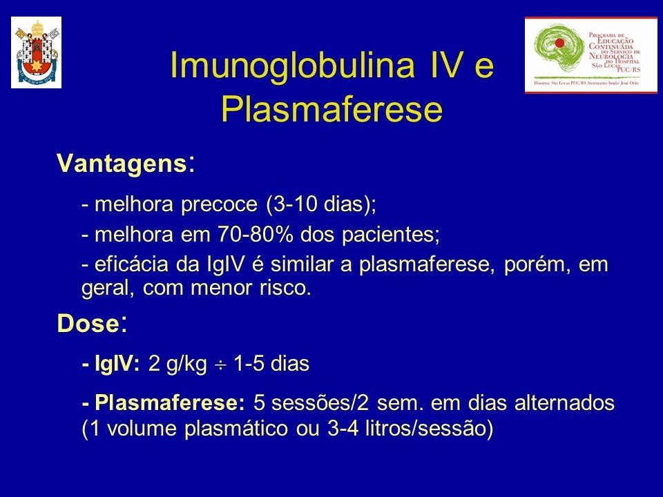 Imunoglobulina IV e Plasmaferese