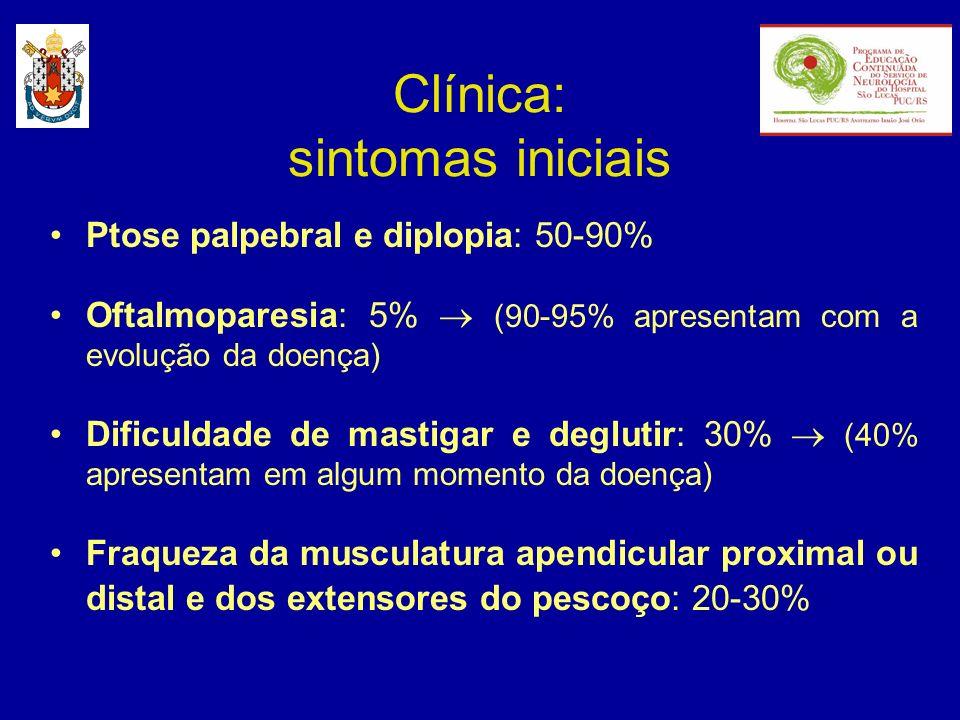 Clínica: sintomas iniciais