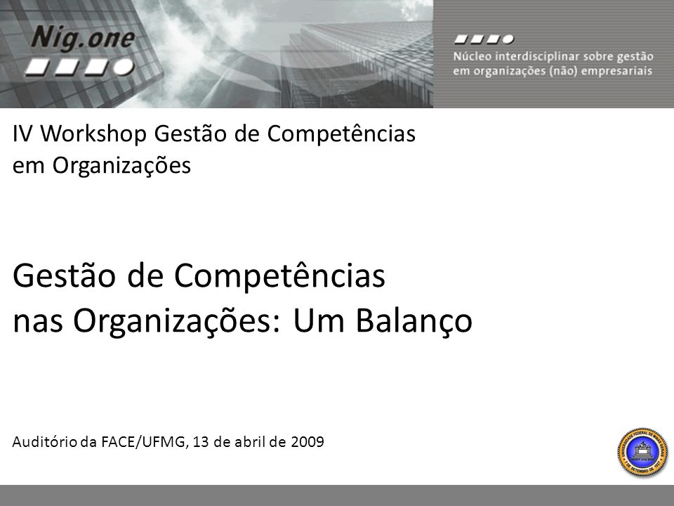Gestão de Competências nas Organizações: Um Balanço