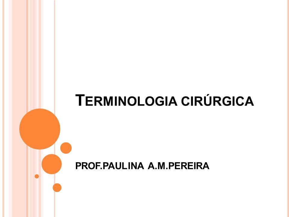 Terminologia cirúrgica