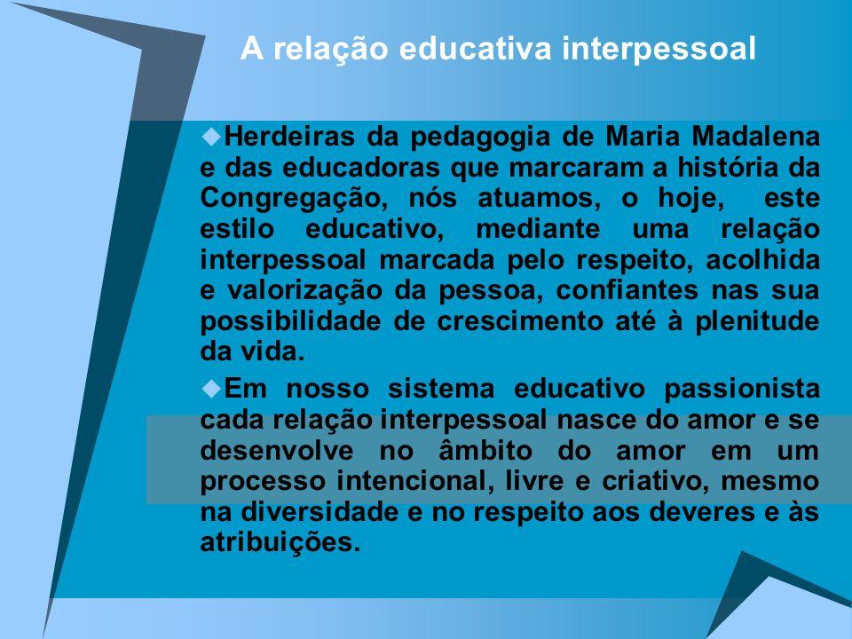 A relação educativa interpessoal