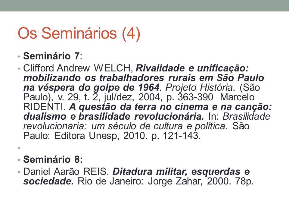 Os Seminários (4) Seminário 7: