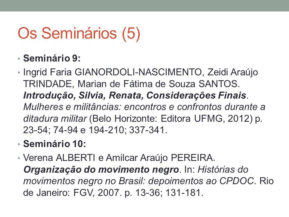 Os Seminários (5) Seminário 9: