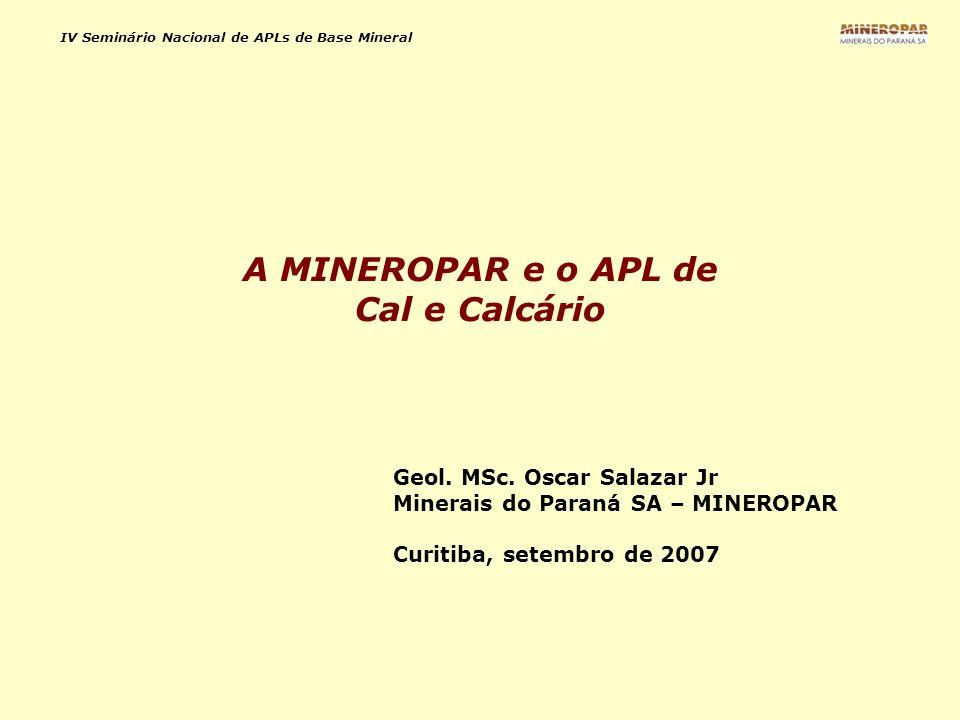 A MINEROPAR e o APL de Cal e Calcário