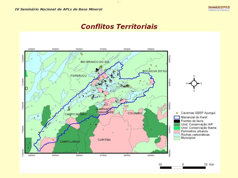 IV Seminário Nacional de APLs de Base Mineral Conflitos Territoriais