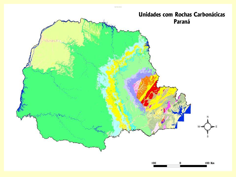 Mapa Parana carbonatos