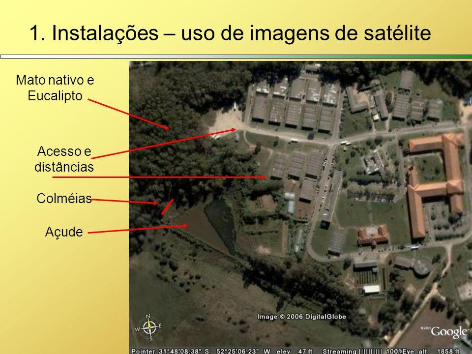 1. Instalações – uso de imagens de satélite