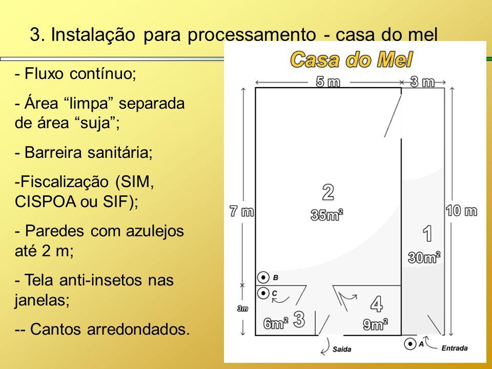 3. Instalação para processamento - casa do mel