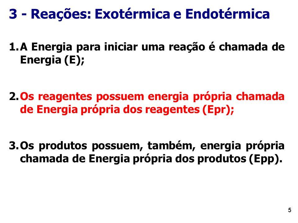 3 - Reações: Exotérmica e Endotérmica